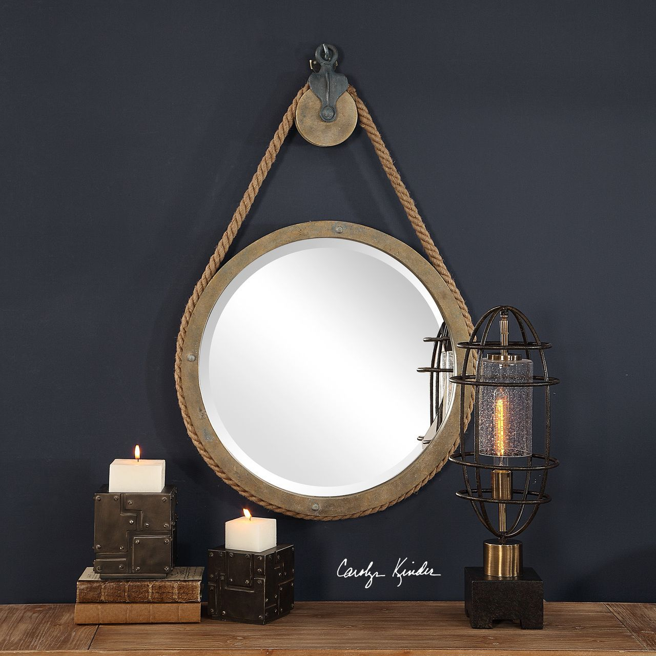 Rope And Pulley Mirror In 2019 | Save | Rope Mirror, Mirror Inside Ulus Accent Mirrors (View 18 of 20)