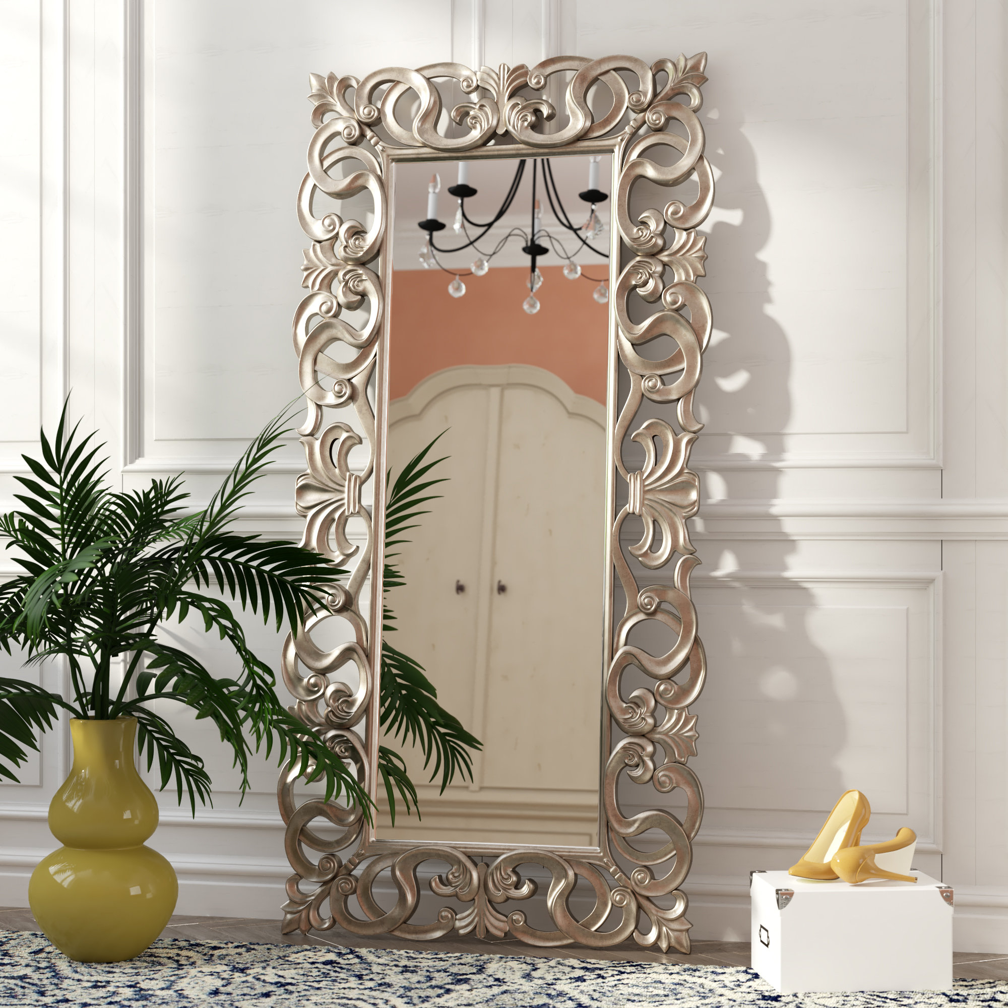 Rosdorf Park Traditional Rectangle Accent Mirror & Reviews Regarding Bracelet Traditional Accent Mirrors (View 6 of 20)