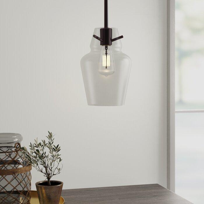 Roslindale 1 Light Single Bell Pendant Pertaining To Roslindale 1 Light Single Bell Pendants (View 3 of 25)