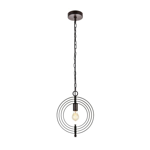 Rossi Industrial Vintage 1 Light Geometric Pendant Regarding Akash Industrial Vintage 1 Light Geometric Pendants (Image 17 of 25)