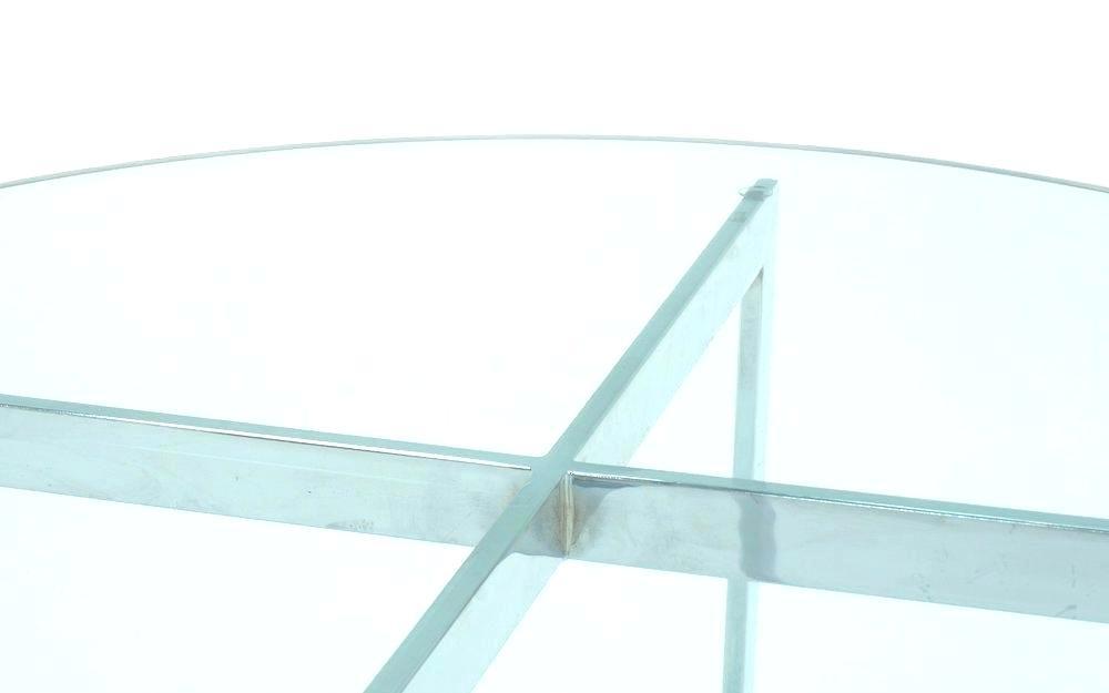 Round Chrome And Glass Coffee Table – Nasagora Inside Strata Chrome Glass Coffee Tables (View 8 of 25)