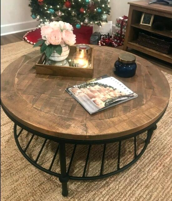 Round Coffee Table With Casters – Aftermidnight (View 32 of 50)