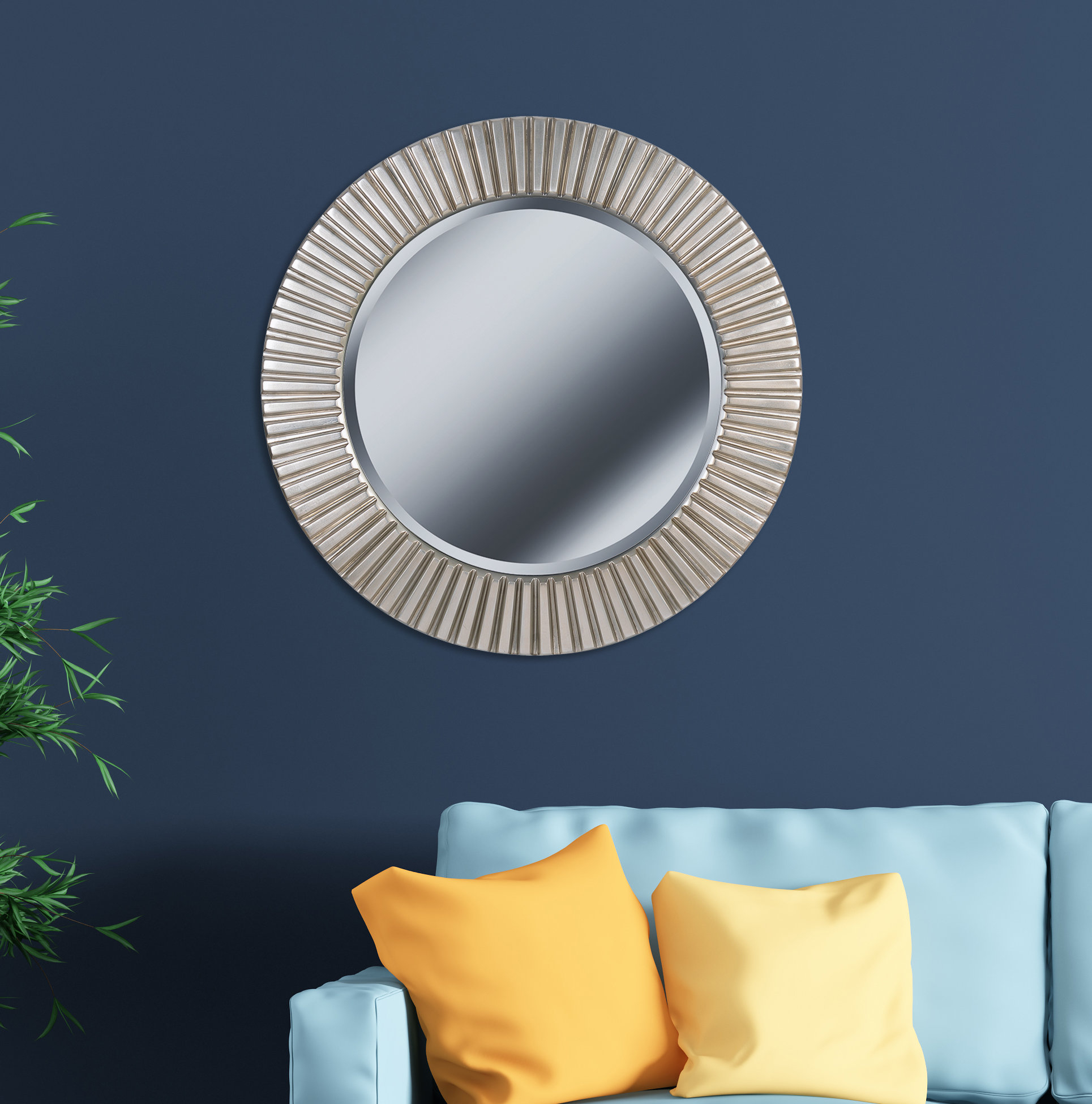 Round Eclectic Accent Mirror Within Karn Vertical Round Resin Wall Mirrors (Image 13 of 20)