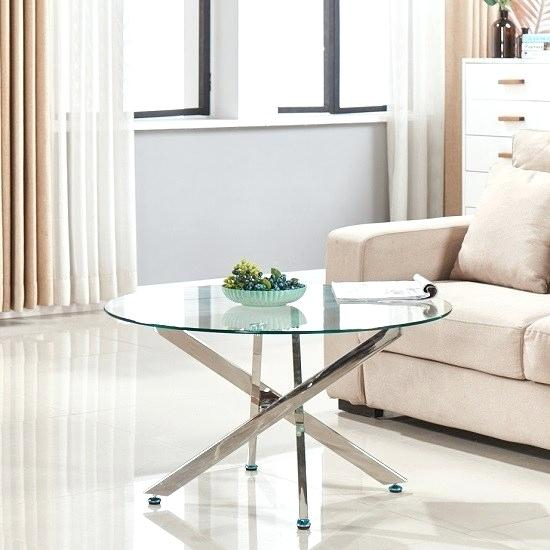 Round Glass And Chrome Coffee Table – Boonapp (View 10 of 25)