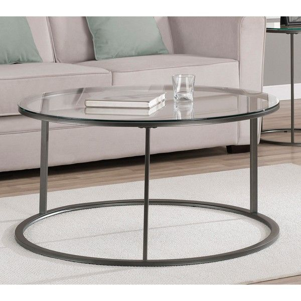Round Glass Top Metal Coffee Table – Overstock™ Shopping In Strata Chrome Glass Coffee Tables (View 20 of 25)