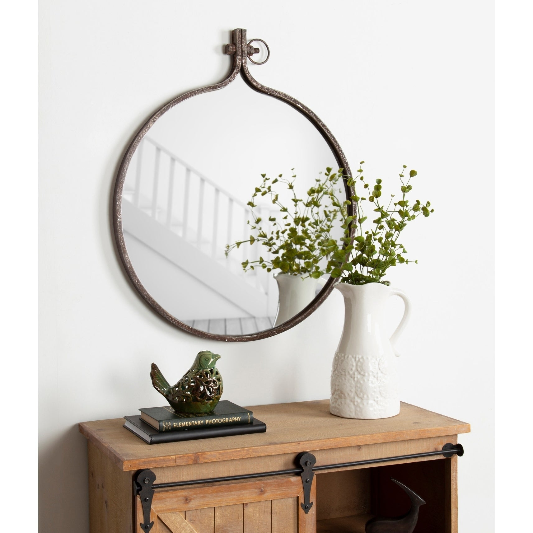 Round Mirrors | Shop Online At Overstock Within Yedinak Modern Distressed Accent Mirrors (View 17 of 20)