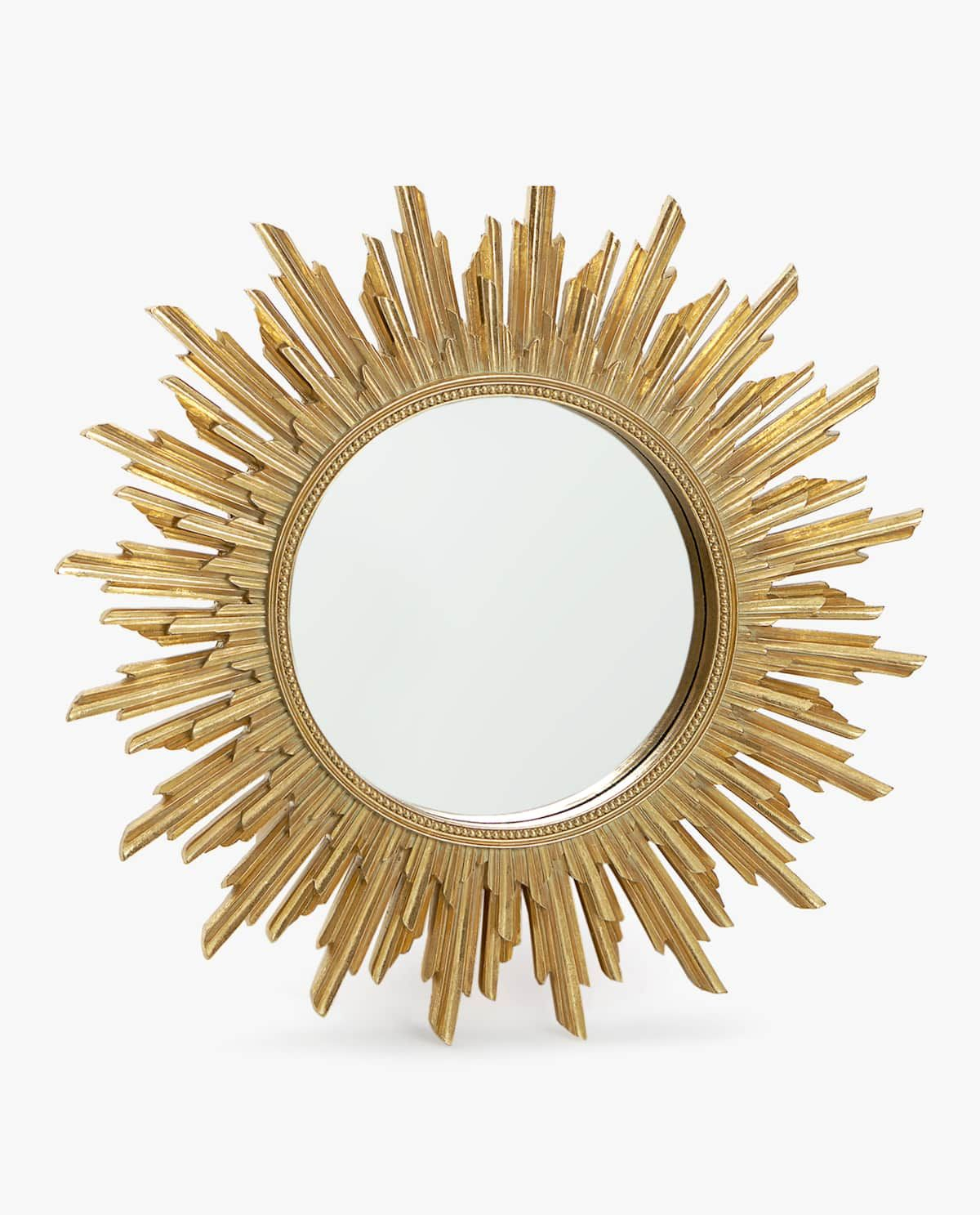 Round Raised Design Mirror In 2019 | Residential #first Home With Regard To Sun Shaped Wall Mirrors (View 3 of 20)