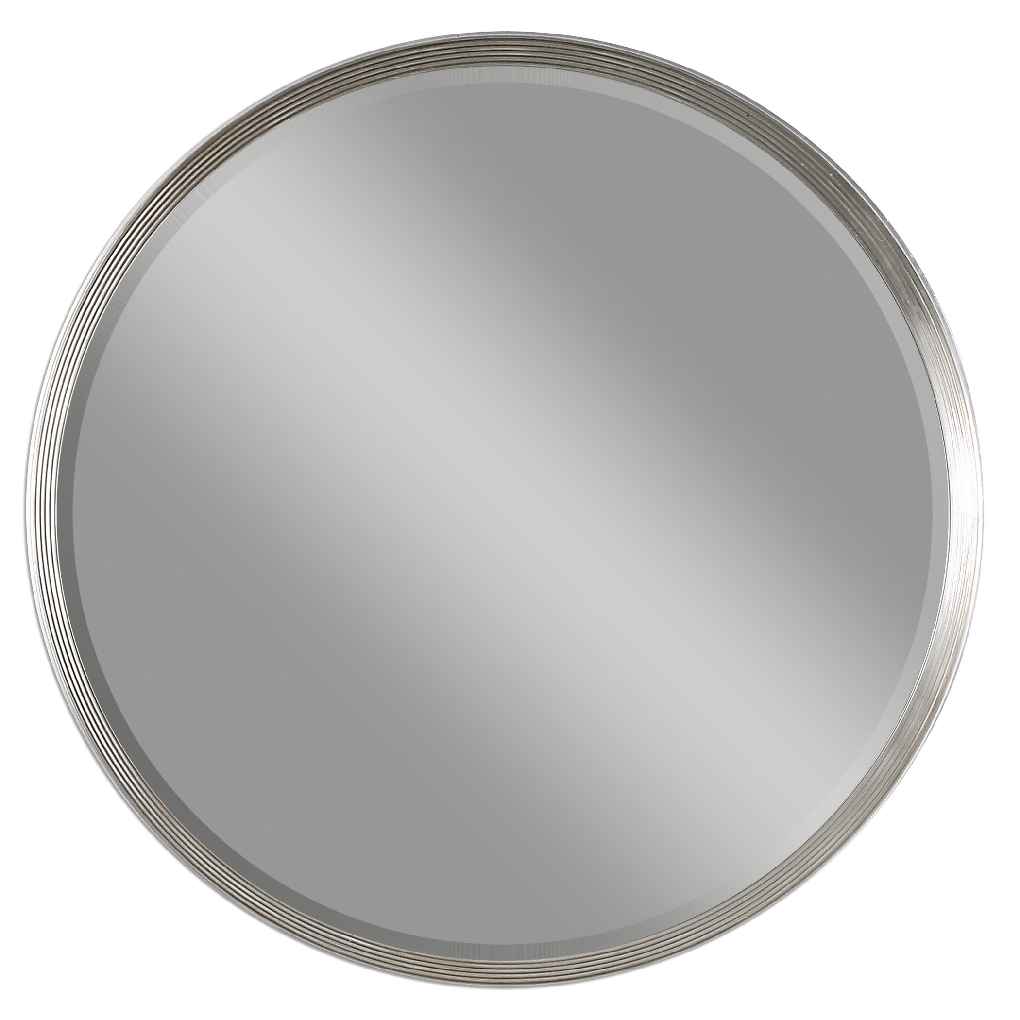 Round Silver Accent Wall Mirror & Reviews | Joss & Main Inside Luna Accent Mirrors (Image 17 of 20)