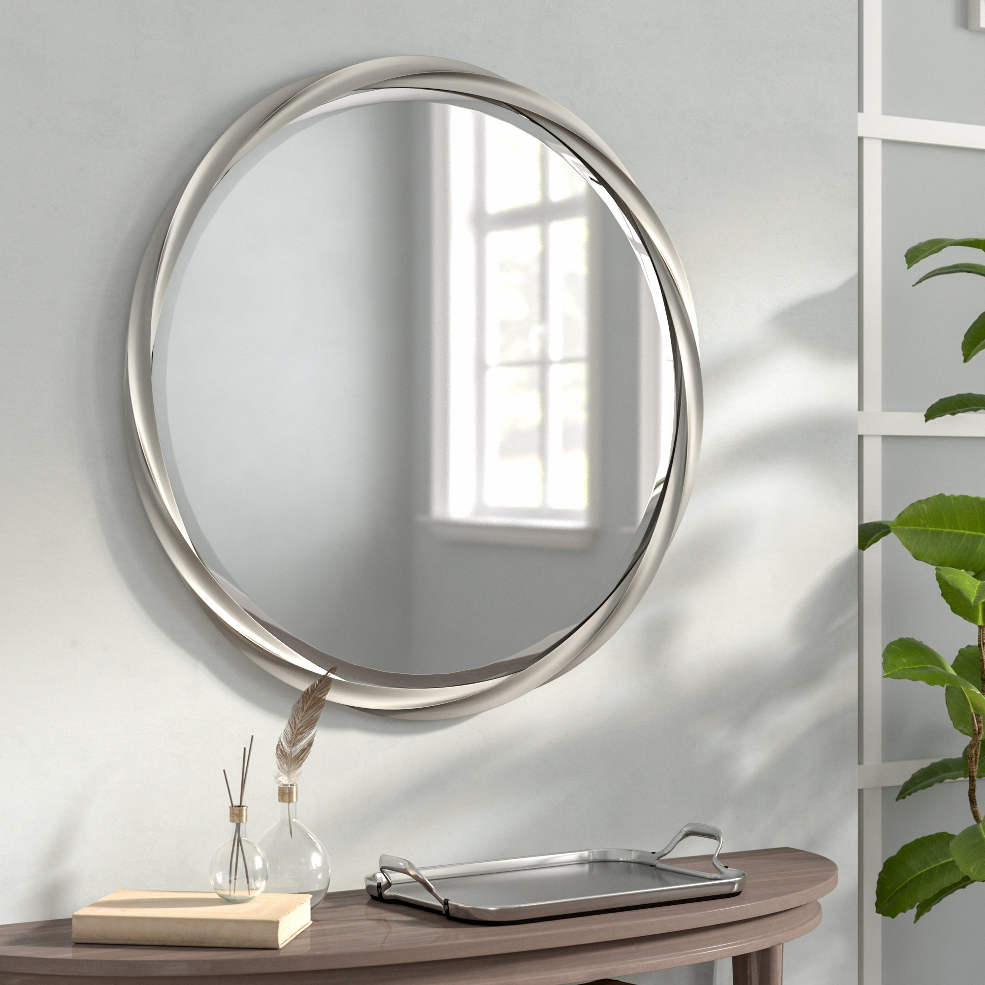 Round Silver Mirrors You'll Love In 2019 | Wayfair For Matthias Round Accent Mirrors (View 13 of 20)