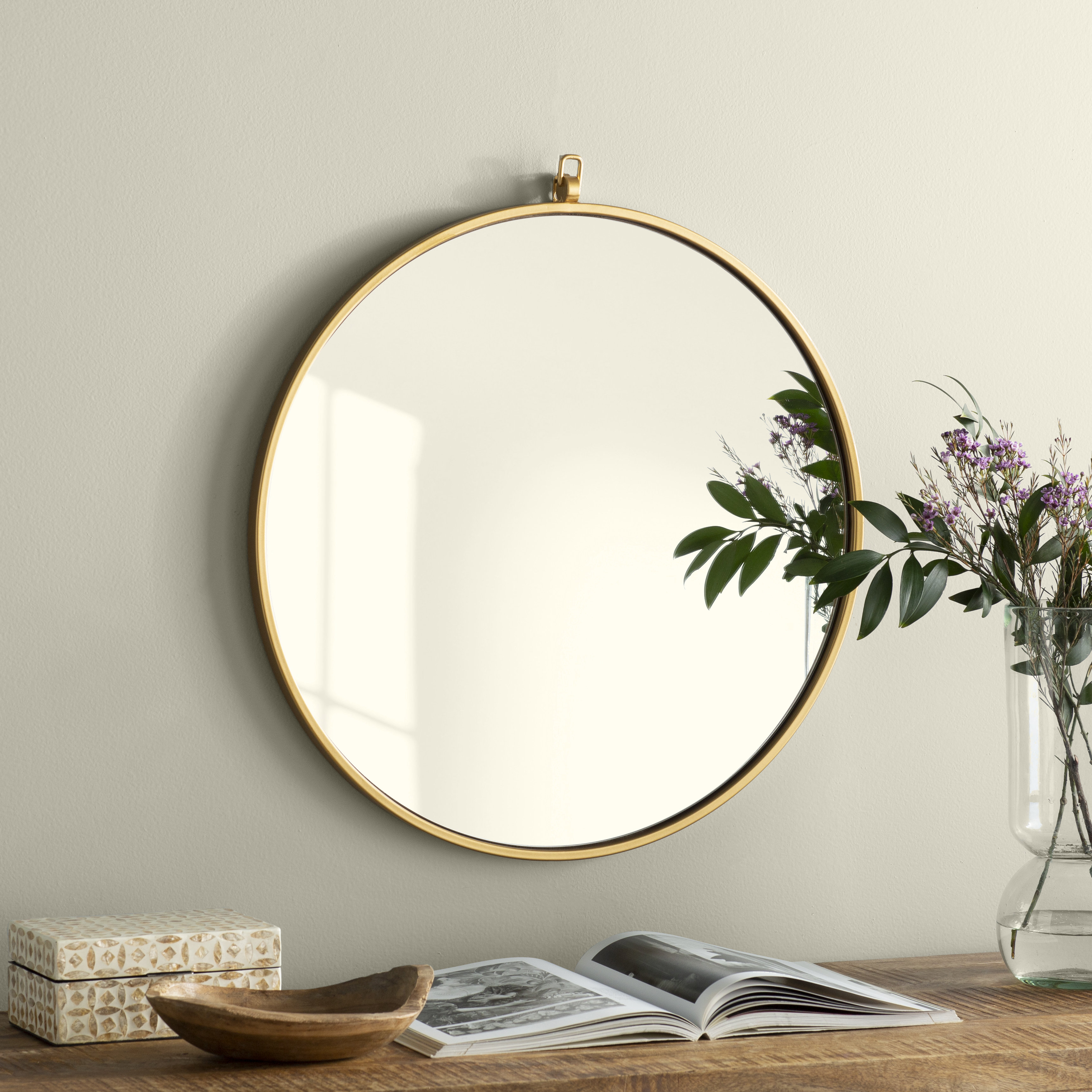Round Wall Mirrors | Joss & Main Inside Yatendra Cottage/country Beveled Accent Mirrors (View 14 of 20)
