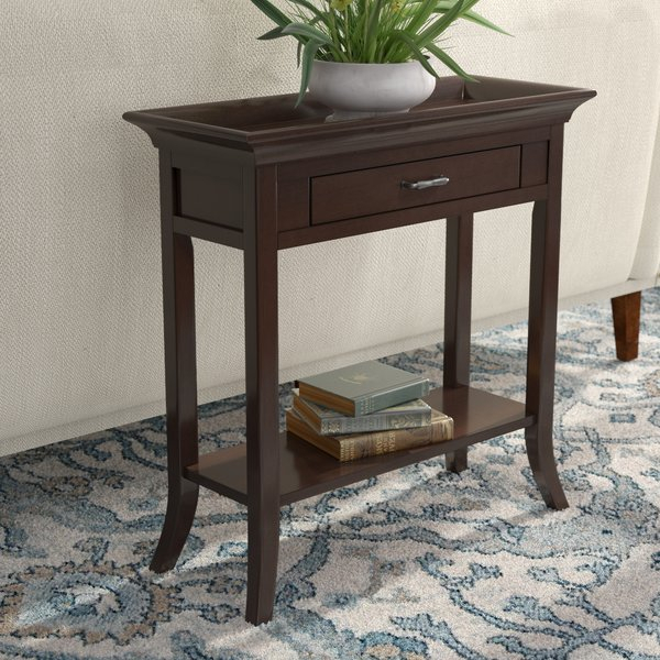 Rounded Edge Console Table | Wayfair Pertaining To Jessa Rustic Country 54 Inch Coffee Tables (Image 20 of 25)