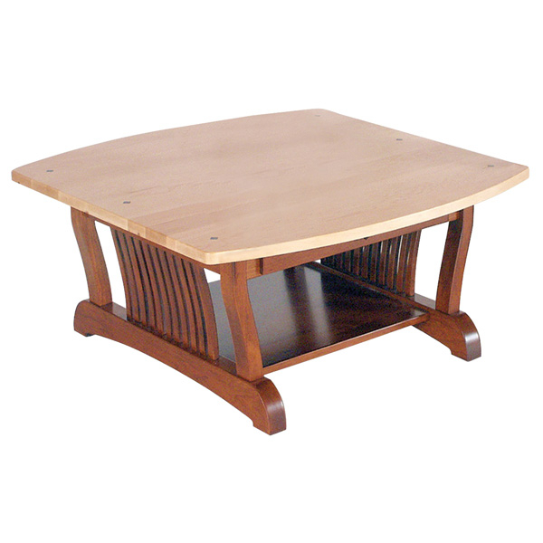 Royal Mission Coffee Table 36X36 Square Intended For Mission Walnut Coffee Tables (View 11 of 25)