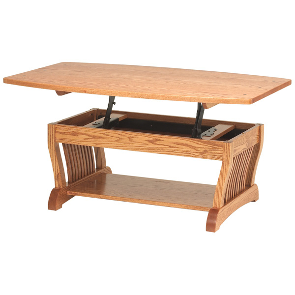 Royal Mission Lift Top Coffee Table Regarding Mission Walnut Coffee Tables (View 4 of 25)