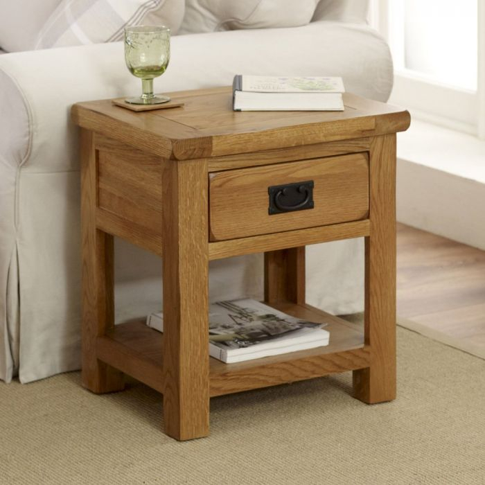 Rustic Oak Lamp Table With Rustic Oak Coffee Tables (Image 19 of 25)