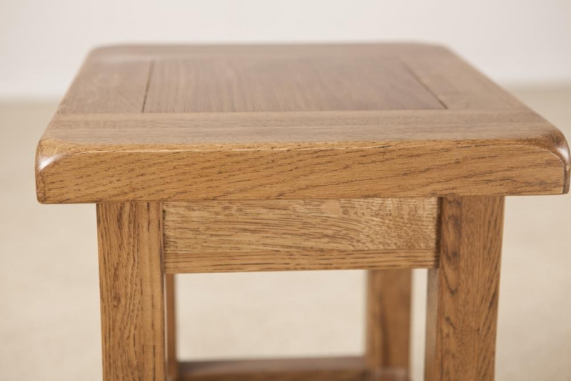 Rustic Oak Side Table For Rustic Oak Coffee Tables (Image 21 of 25)
