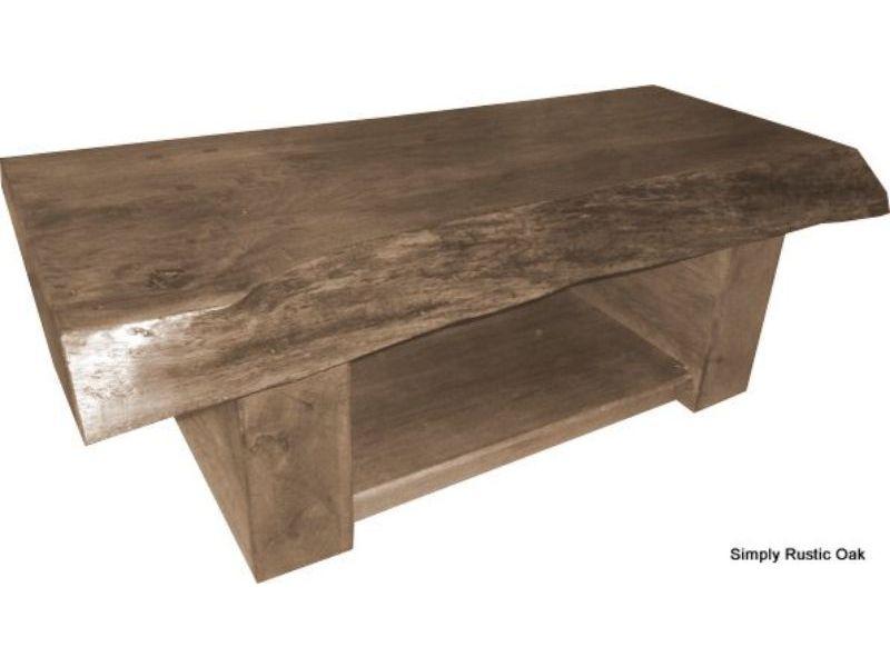 Rustic Oak Waney Edge Coffee Table Regarding Rustic Oak Coffee Tables (View 25 of 25)