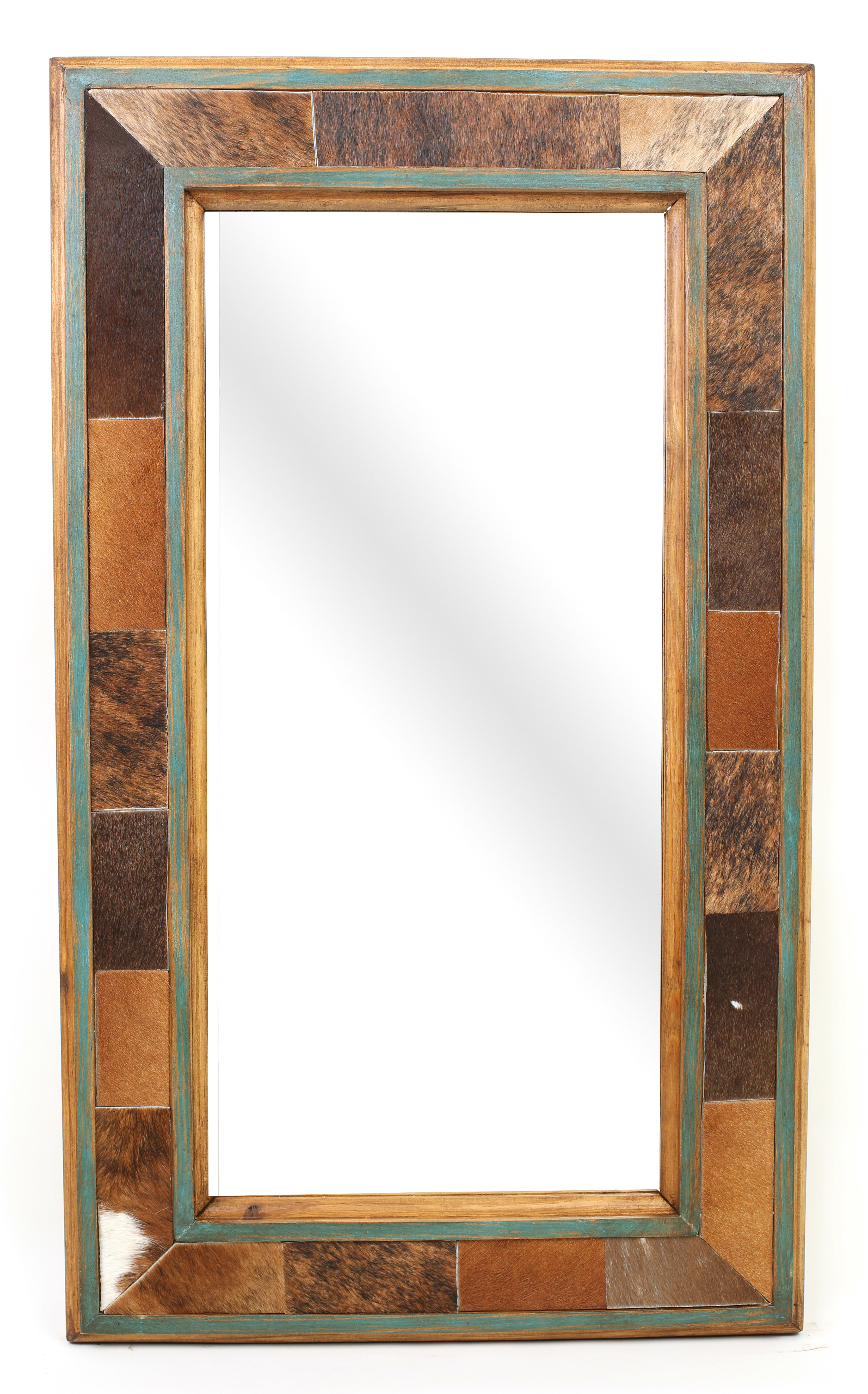 Rustic Pine Mirror | Wayfair Inside Longwood Rustic Beveled Accent Mirrors (Image 12 of 20)