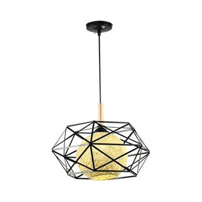 Rustic Style Globe Pendant Light Globe 1 Light Rattan Ceiling Lamp In 1 Light Globe Pendants (Image 17 of 25)