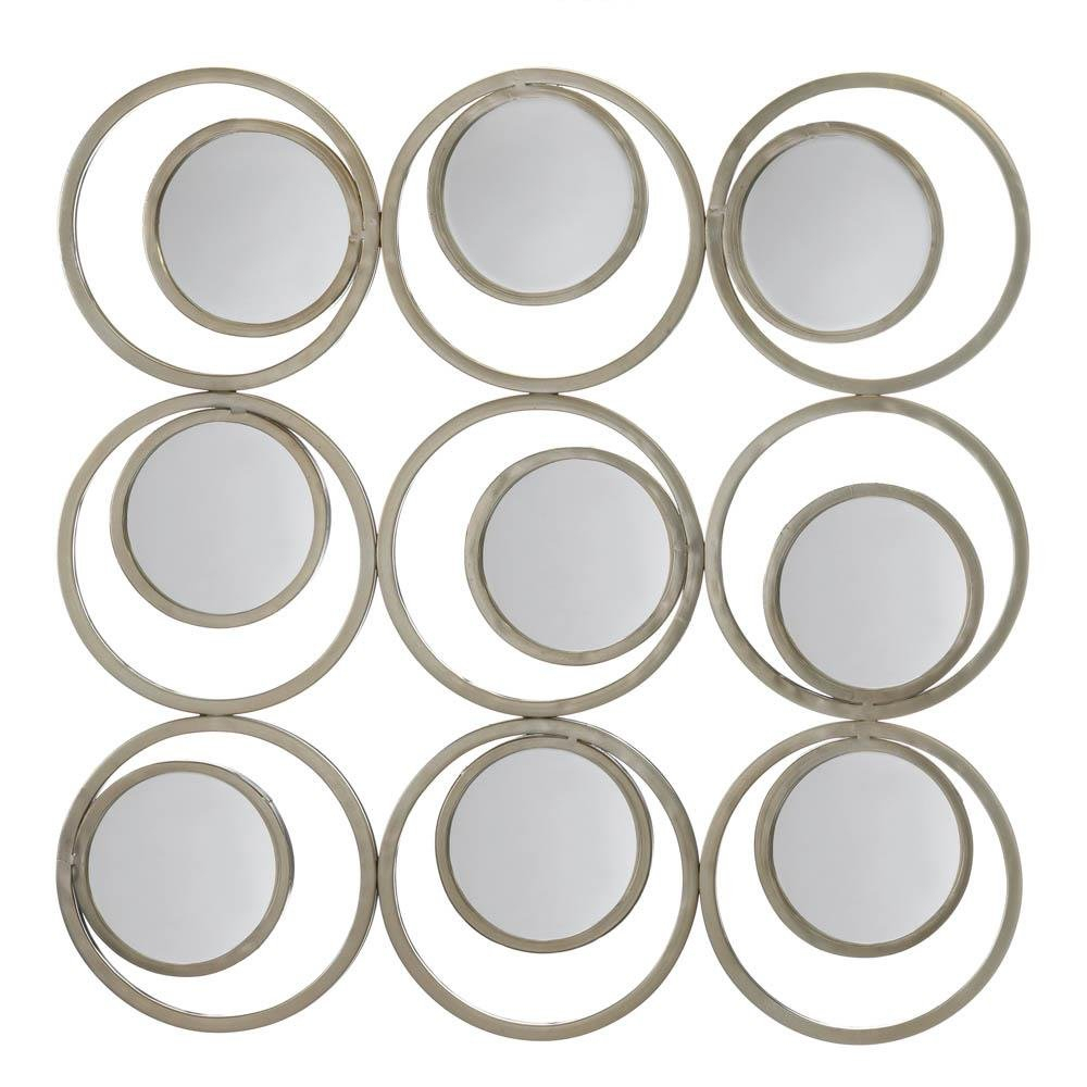 Rustic Wall Mirror, Revolution Home Decorative Round Mirror Decor, Iron Regarding Decorative Round Wall Mirrors (Photo 17 of 20)