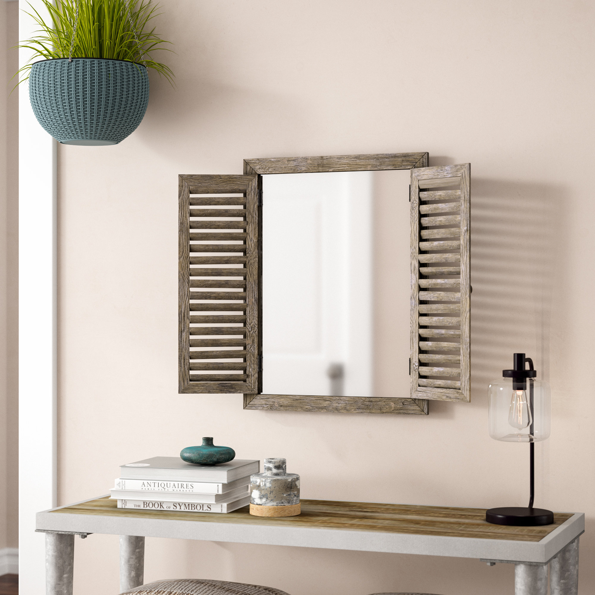 Rustic Windowpane Mirrors | Wayfair Within Lajoie Rustic Accent Mirrors (View 19 of 20)