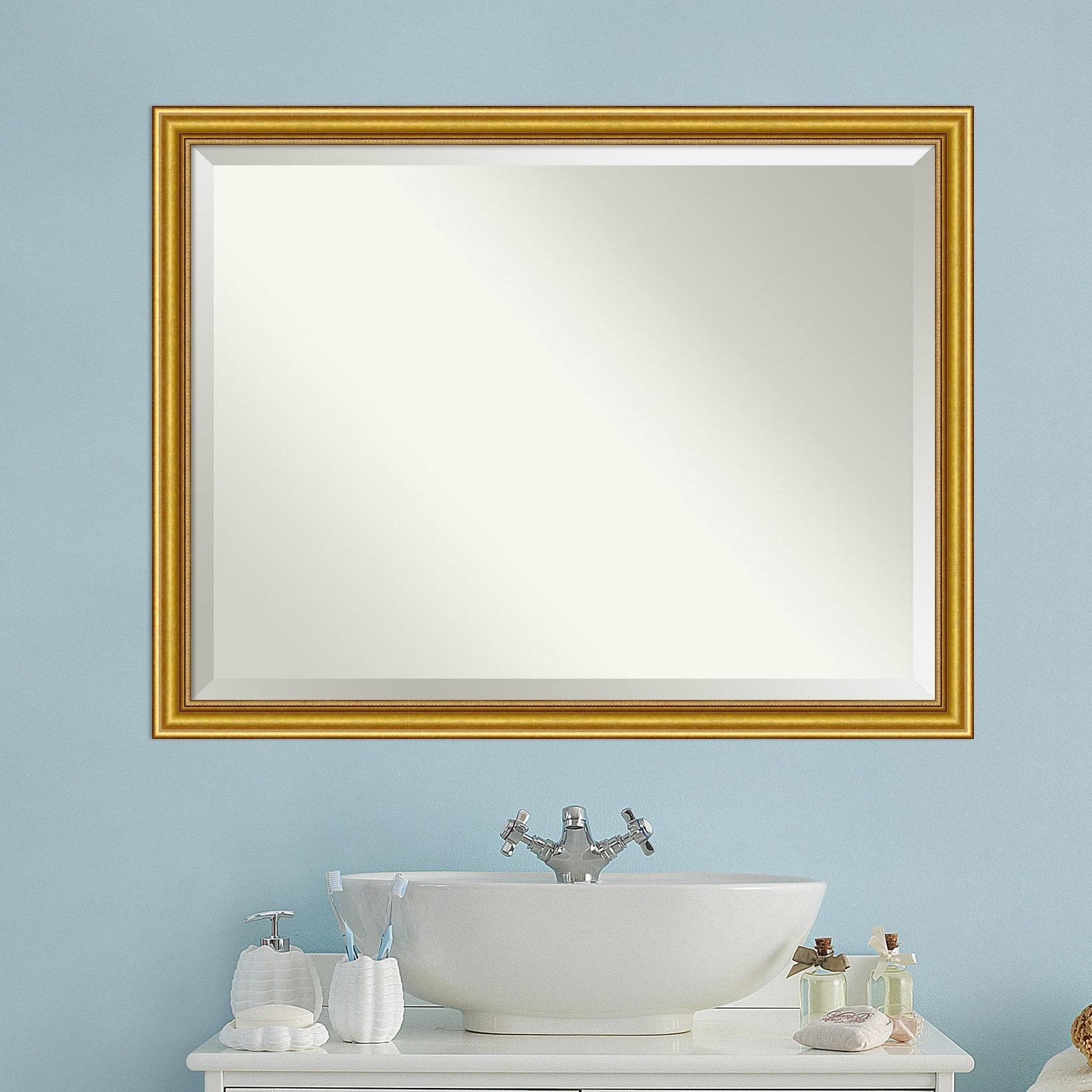 Rustic Wood Framed Mirror   Wayfair For Padang Irregular Wood Framed Wall Mirrors (View 7 of 20)