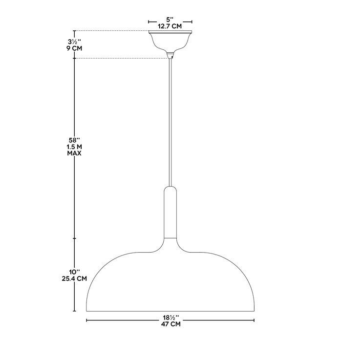 Ryker 1 Light Single Dome Pendant Inside Ryker 1 Light Single Dome Pendants (View 8 of 25)