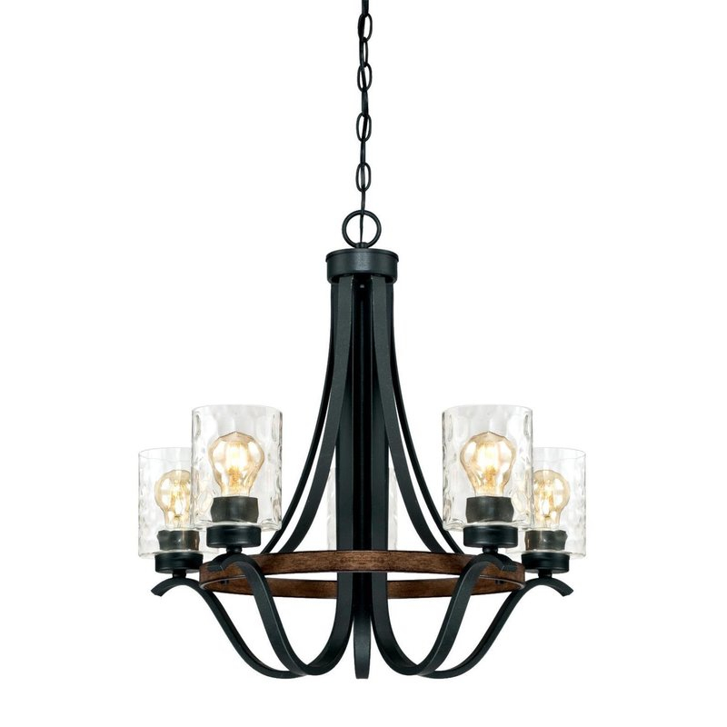 Sabo Indoor 5 Light Shaded Chandelier With Regard To Crofoot 5 Light Shaded Chandeliers (View 9 of 20)
