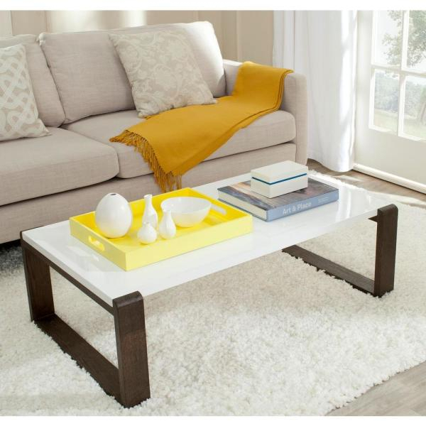 Safavieh Bartholomew Dark Brown Coffee Table Fox4210A – The Within Simple Living Manhattan Coffee Tables (View 10 of 25)