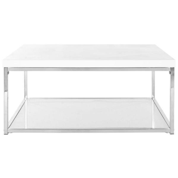 Featured Image of Safavieh Malone White Chrome Coffee Tables