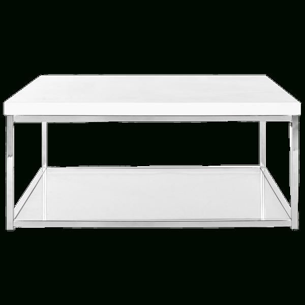 Safavieh Modern Glam Malone White/ Chrome Coffee Table Throughout Safavieh Malone White Chrome Coffee Tables (View 2 of 25)