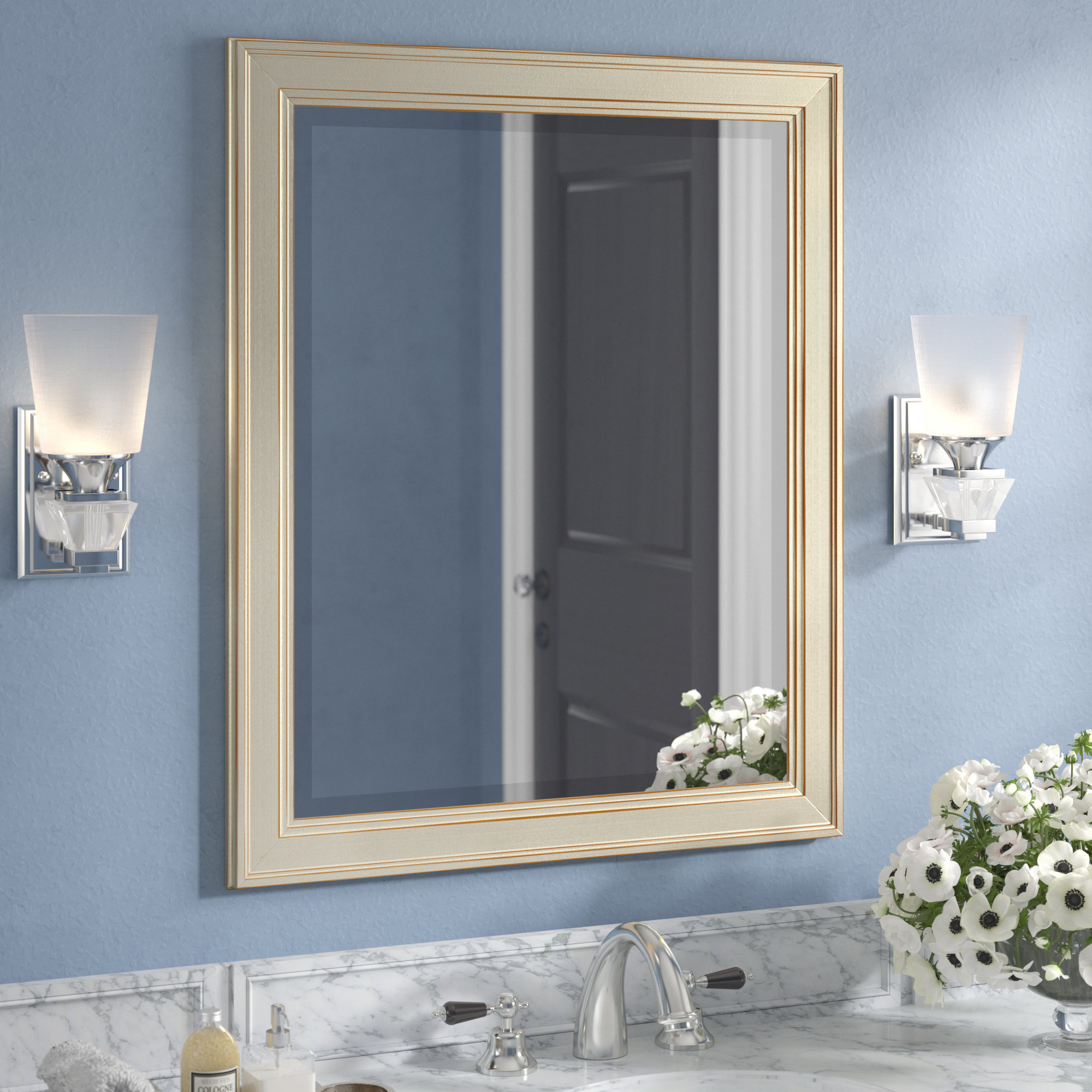 Salter Framed Rectangle Accent Mirror Regarding Rectangle Accent Mirrors (View 4 of 20)
