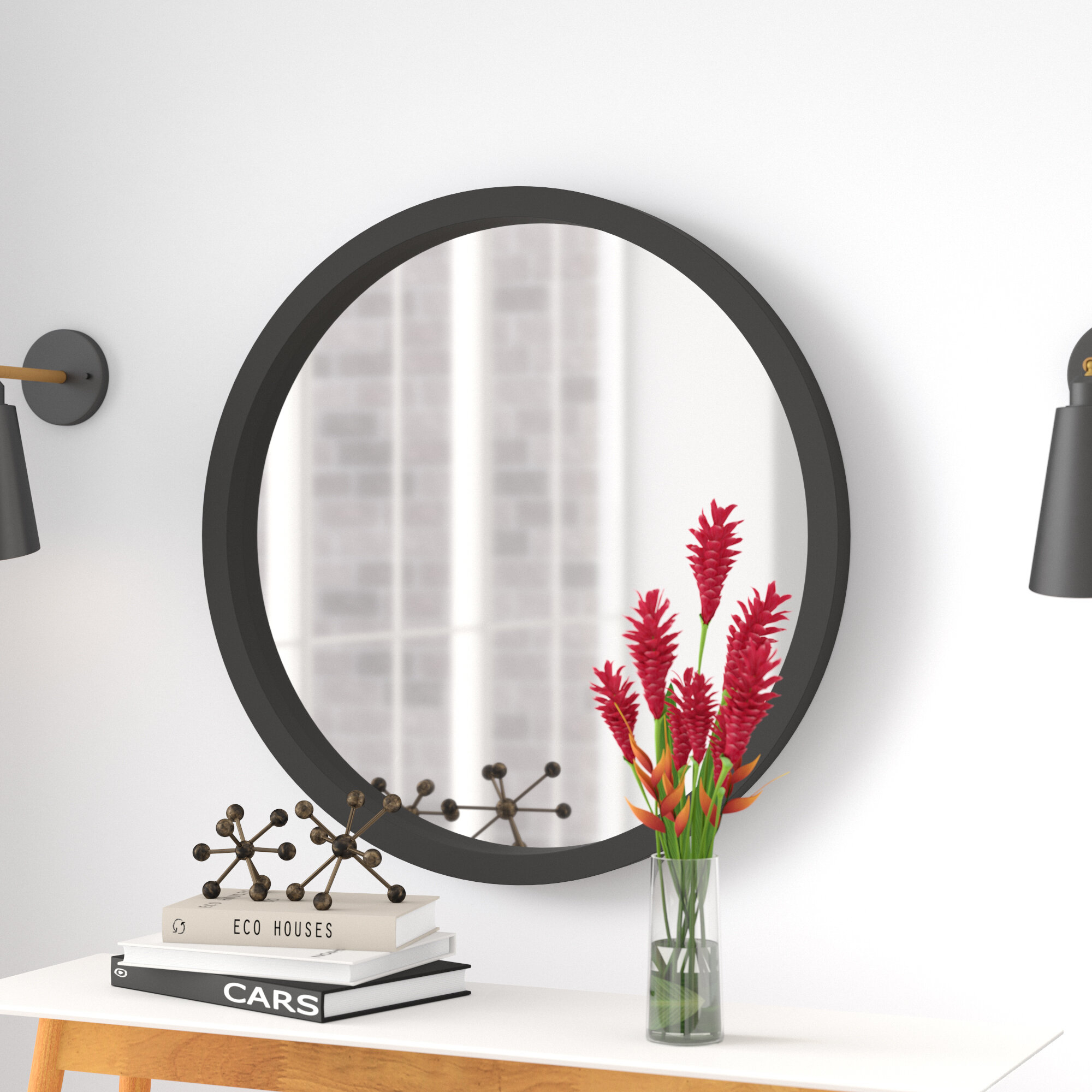 Samson Modern & Contemporary Wall Mirror Intended For Levan Modern & Contemporary Accent Mirrors (Image 18 of 20)