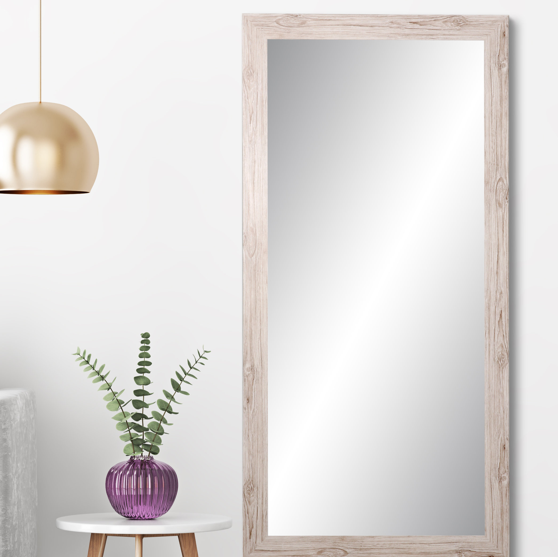Samual Farmhouse Charm Full Length Mirror Regarding Epinal Shabby Elegance Wall Mirrors (Image 14 of 20)