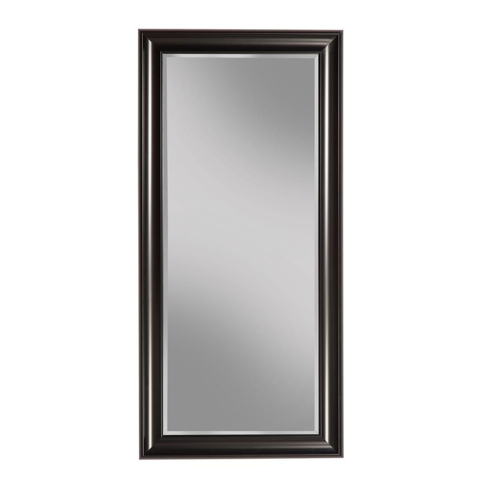 Sandberg Furniture Black Full Length Leaner Floor Mirror In In Northcutt Accent Mirrors (Image 15 of 20)