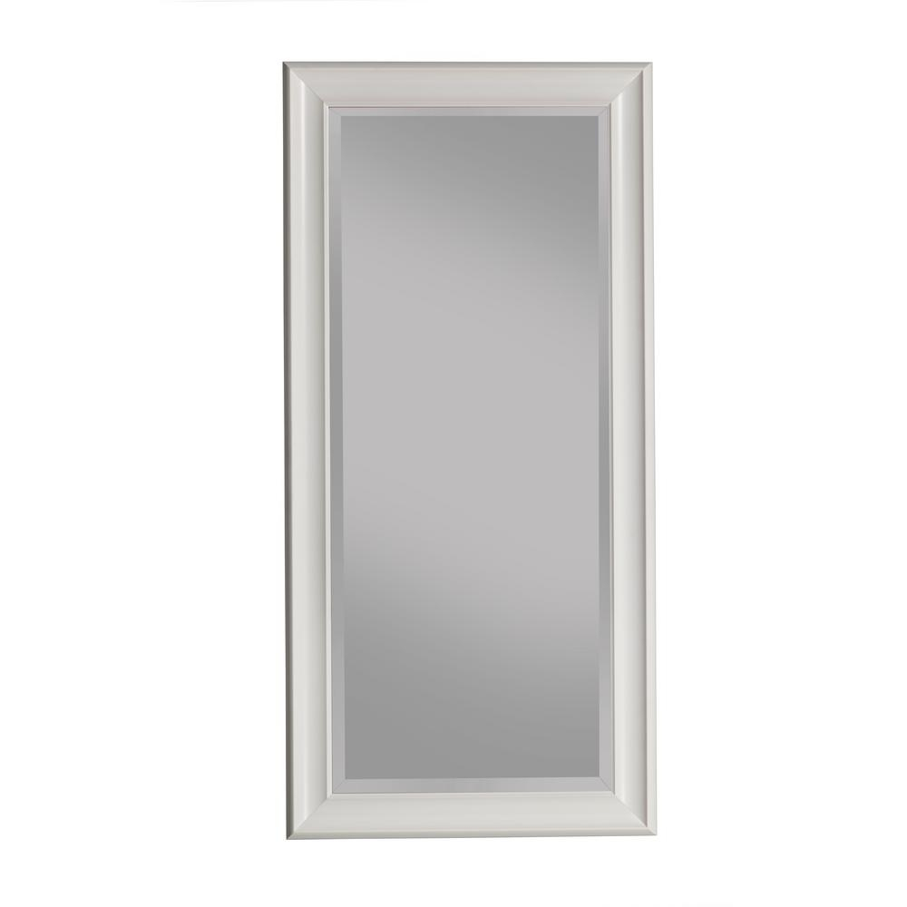 Sandberg Furniture Silver Full Length Leaner Floor Mirror Pertaining To Janie Rectangular Wall Mirrors (Image 17 of 20)