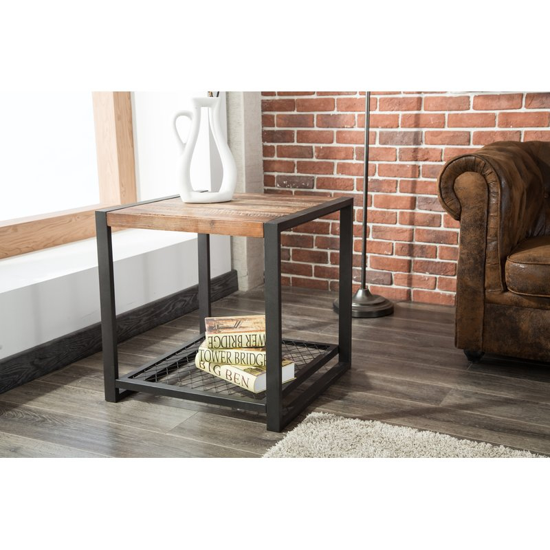 Sawyer End Table Within Sawyer Industrial Reclaimed Rectangular Cocktail Tables (View 26 of 50)
