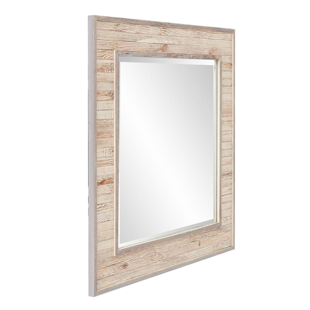 Sawyer Wood Plank Square Mirror 56172 – The Home Depot In Medallion Accent Mirrors (View 15 of 20)