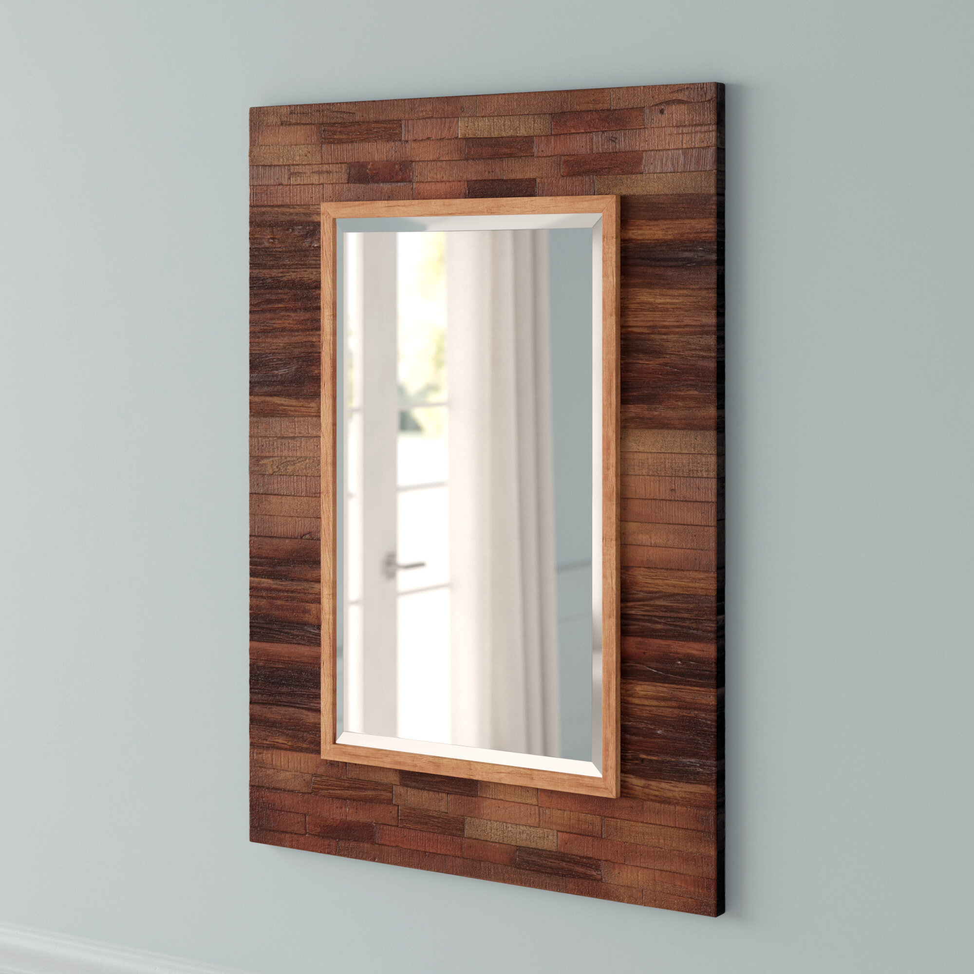 Saylor Wall Mirror | Joss & Main Pertaining To Booth Reclaimed Wall Mirrors Accent (Image 17 of 20)