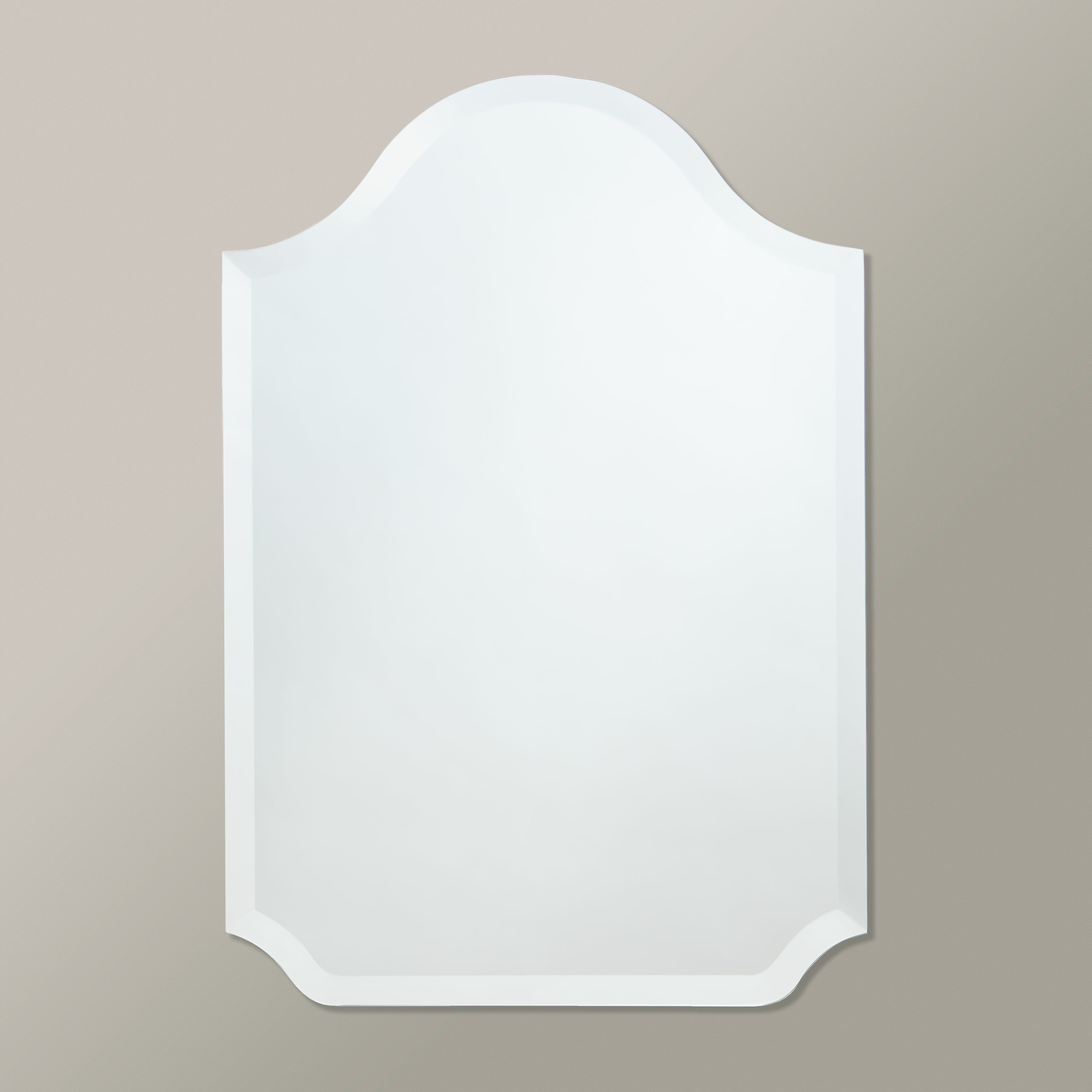 Scalloped Glass Mirror | Wayfair Intended For Dariel Tall Arched Scalloped Wall Mirrors (View 10 of 20)