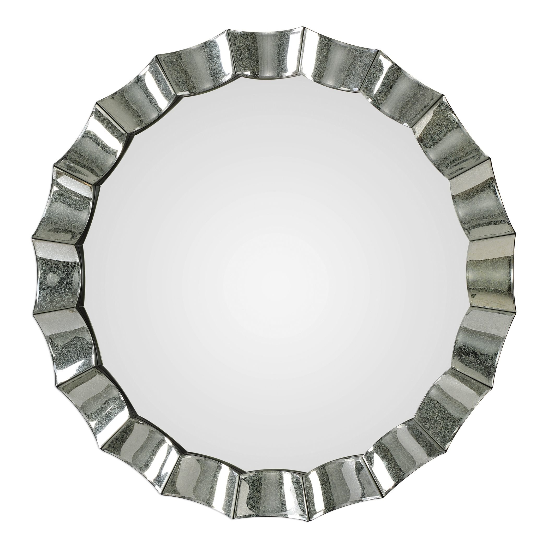 Scalloped Mirror | Wayfair With Dariel Tall Arched Scalloped Wall Mirrors (Image 17 of 20)