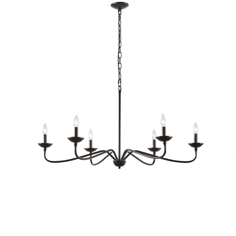 Scannell 6 Light Candle Style Chandelier Throughout Perseus 6 Light Candle Style Chandeliers (View 7 of 20)