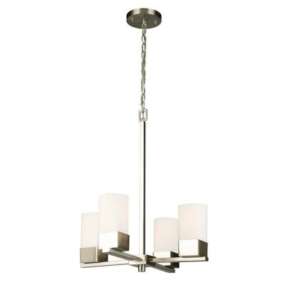 Sea Gull Lighting Ellis Harper 4 Light Brushed Nickel In Hewitt 4 Light Square Chandeliers (View 11 of 20)