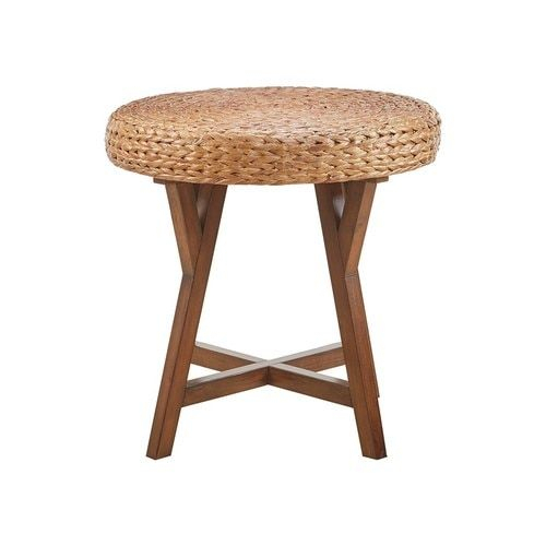 Seadrift Natural Woven Round Side Table | End Tables | End Pertaining To The Curated Nomad Belize Woven Cocktail Tables (View 24 of 25)