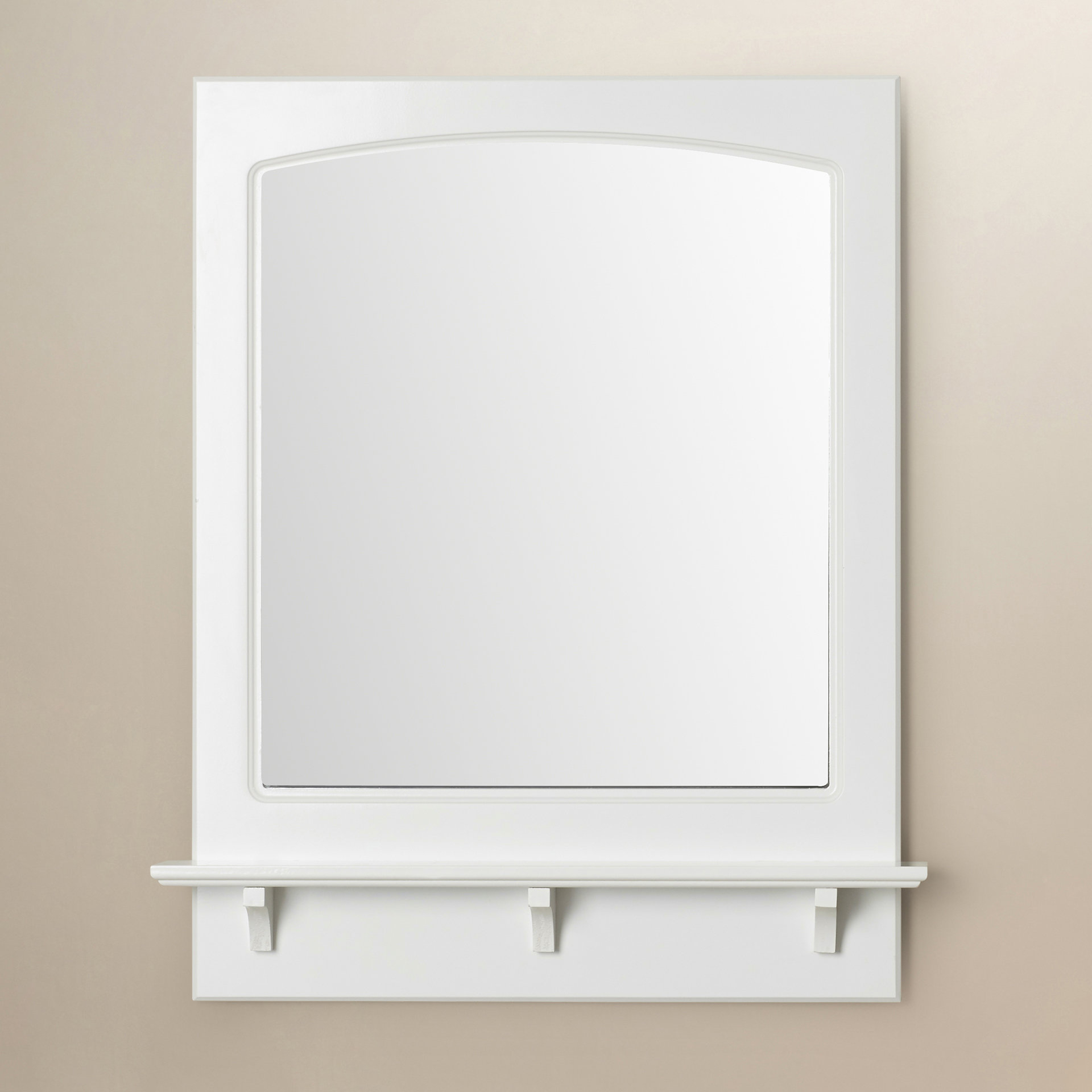 Searle Rectangle Accent Mirror Inside Hallas Wall Organizer Mirrors (Image 17 of 20)