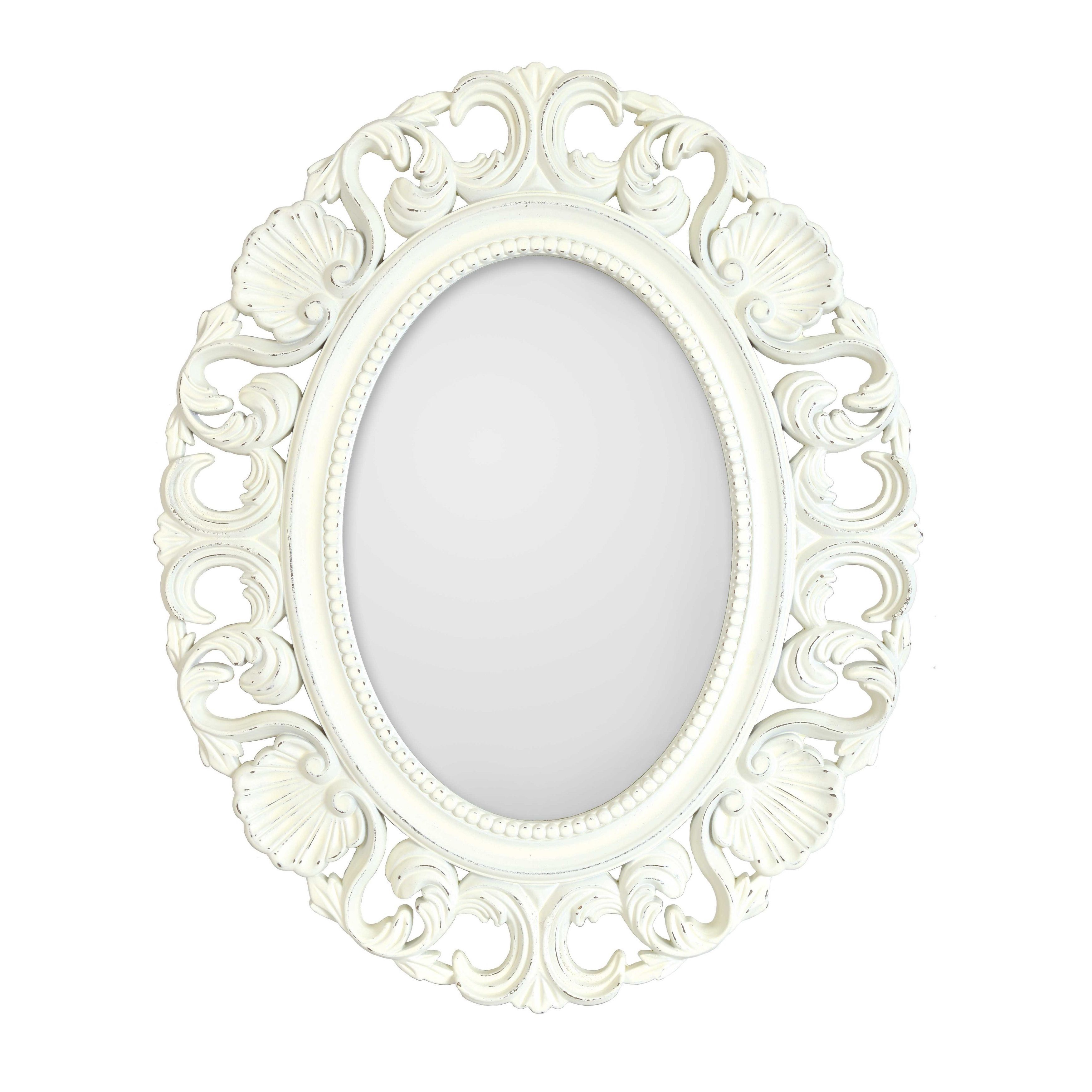 Selectionschaumont Casa Antique White Ornate Oval Mirror For Alissa Traditional Wall Mirrors (View 18 of 20)