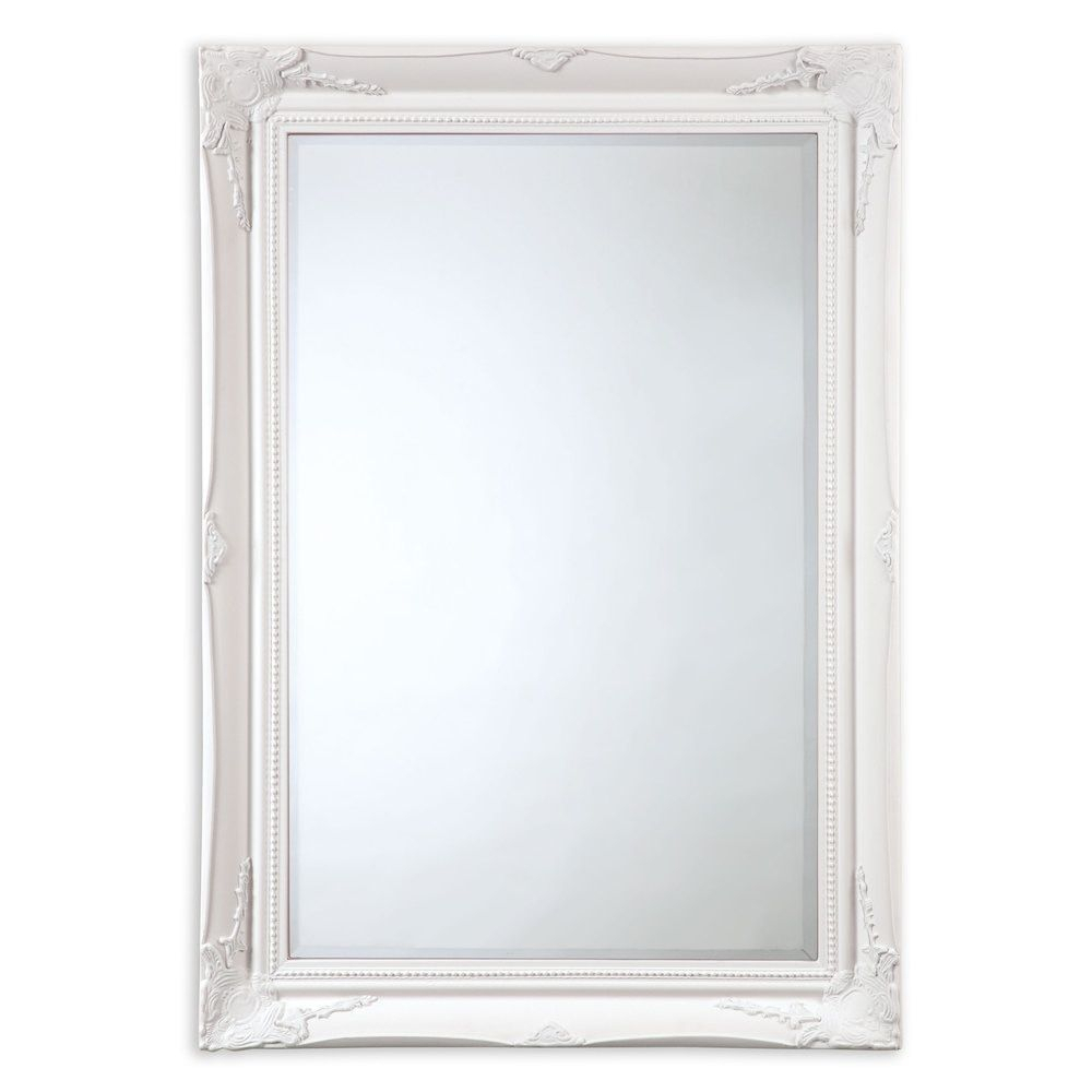 Selectionschaumont Maissance White Traditional Mirror For Traditional Square Glass Wall Mirrors (Image 14 of 20)