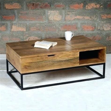 Self Made Industrial Wooden Coffee Table Wood Cart Intended For Montgomery Industrial Reclaimed Wood Coffee Tables With Casters (View 39 of 50)