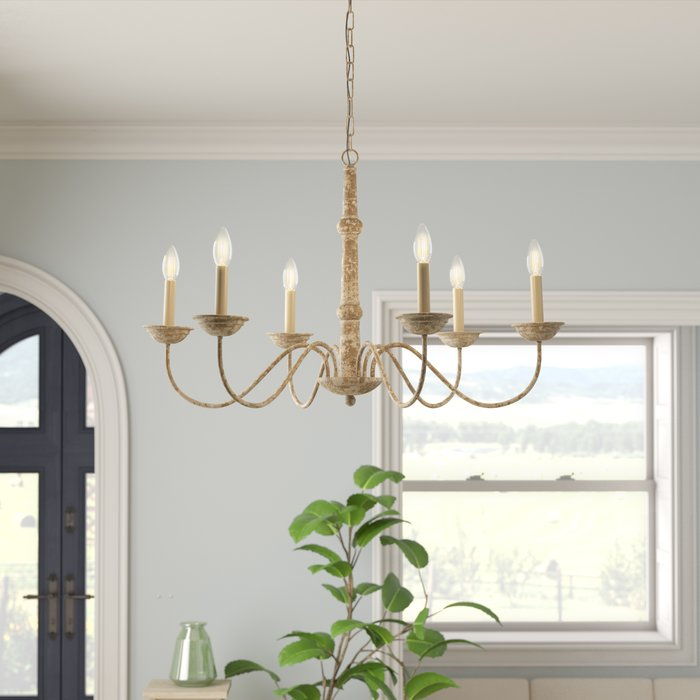 Seneca 6 Light Candle Style Chandelier For Armande Candle Style Chandeliers (View 14 of 20)