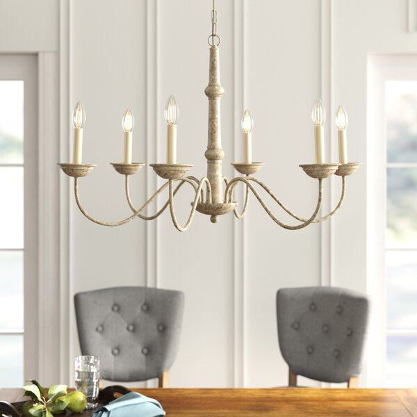 Seneca 6 Light Candle Style Chandelier In Watford 6 Light Candle Style Chandeliers (Image 9 of 20)
