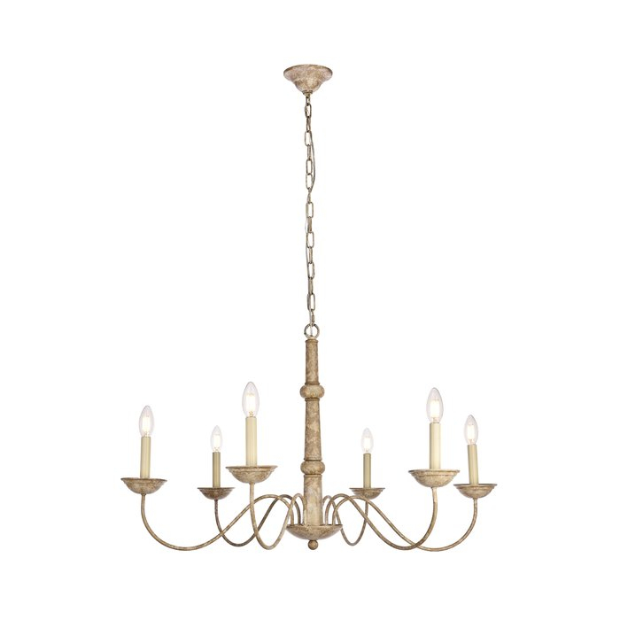 Seneca 6 Light Candle Style Chandelier With Watford 6 Light Candle Style Chandeliers (Image 11 of 20)